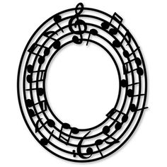 Silhouette Design Store: frame music - circle