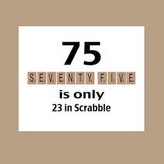 75th Birthday Card 1943 Milestone Scrabble 7