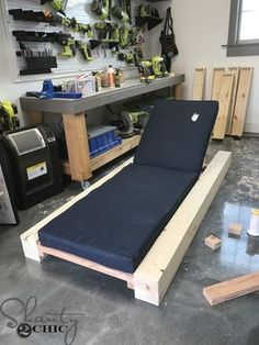 DIY Outdoor Lounge Chair and How-to Video - Shanty 2 Chic - Modern Design Lounge Design, Lounge Decor, Beach Lounge Chair, Pool Lounge Chairs, Chair Design, Design Design, Interior Design, Backyard Furniture, Outdoor Lounge Furniture