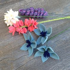 """77 Likes, 14 Comments - Felt Flower Design (@feltflowerdesign) on Instagram: """"I've been working on designing all kinds of new flowers in between filling orders. Here are a few…"""""""