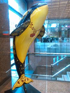 """""""Guilded Orca"""" in the HSBC Bank Mall, Downtown Vancouver"""