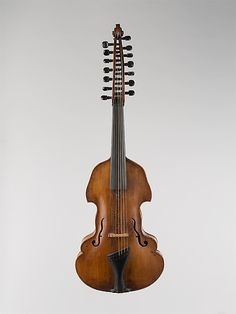 Viola dAmore Date: 1739 Geography: Augsburg, Germany Medium: Spruce, maple Dimensions: L. 82.9 cm, Body L. 42.4 cm, String L. 39 cm approx. Classification: Chordophone-Lute Credit Line: The Crosby Brown Collection of Musical Instruments, 1889