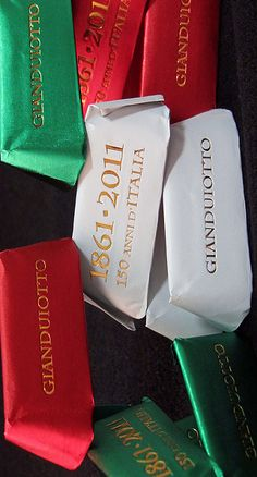 Gianduiotti Tricolore, Italian Chocolate. Next on my list.