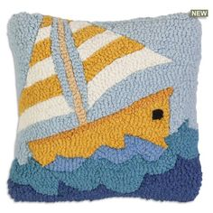 Baby Pillows, Wool Pillows, Throw Pillows, Rug Hooking Designs, Rug Hooking Patterns, Punch Needle Patterns, Hand Hooked Rugs, How To Make Pillows, Punch Art
