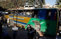 An explosion ripped through a Lebanese bus carrying Shiite pilgrims in a central district of the Syrian capital, killing at least six people and wounded up to 20 Sunday.  The cause of the blast was unclear. While a Twitter account associated with the Nusra Front claimed responsibility for the blast, saying a Saudi member of the group identified as Abu al-Ezz al-Ansari blew himself up inside the bus, Syrian media and the trip's organizers say the blast was caused by an explosive device.