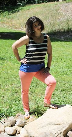 Adora Skinny Jean in Soft Orange by Just Black - colored skinny jeans!  love the soft color and the fit.