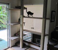 DIY Cat Tree - 9' tall by EBKauai, via Flickr