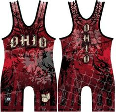 Made 4 U Ohio Chaos Wrestling Singlet Wrestling Mom, Wrestling Singlet, Wrestling Shoes, Fight Wear, Rugby League, Education Humor, Badminton, Olympic Games, Ohio