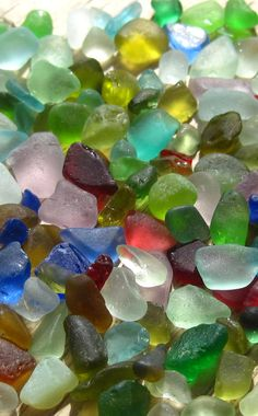 tiny sea glass