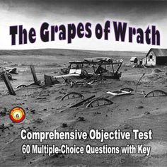 The Grapes of Wrath is an American classic that exposes students to various literary techniques while focusing on a tragic event in history and one family's struggle to stay together, first to prosper and then to merely survive. This resource is a comprehensive objective test.