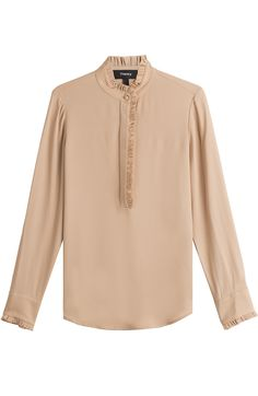 THEORY Silk Blouse. #theory #cloth #blusen
