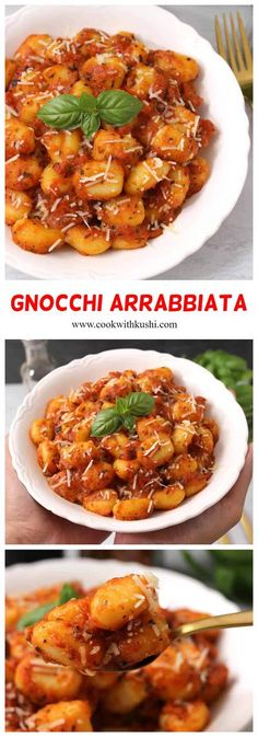 Gnocchi Pasta In Arrabbiata Sauce is super simple to make, flavorful pasta recipe where the soft and delicate pasta is tossed in spicy sauce. This dish can be prepared in less than 20 minutes. #pastadishes #pastarecipes #dinnerrecipes #vegetarianmeal #lunchrecipe #pastadinnerrecipes #mealprep #healthydinner #healthyrecipes #healthymealprep #healthylunchideas #easylunchideas #fallfood #holidaydinner #spicypasta #creamy #footballfood
