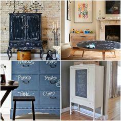 Pros y contras de decorar con pintura pizarra.