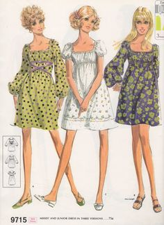 1969 Fashion Illustrations McCalls                                                                                                                                                                                 More