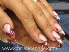 Glitter edge nails