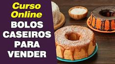 10 Receitas de bolos caseiros. Chocolates, Let Them Eat Cake, Doughnut, Cake Recipes, Deserts, Muffin, Food And Drink, Sweets, Cookies