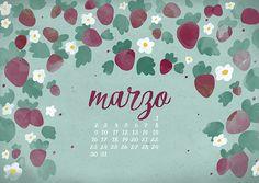 calendario marzo: imprimible y fondo | milowcostblog