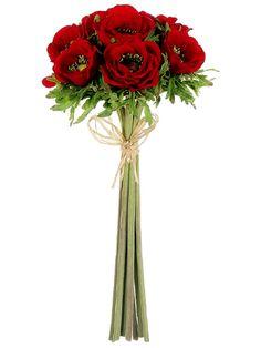 Anemone Bundle in Red | Wedding Bouquet wedding flowers silk flowers bridal bouquet shop wedding flowers and wedding decorations www.afloral.com
