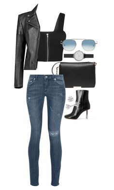 """Untitled #6814"" by ashley-r0se-xo ❤ liked on Polyvore featuring Vetements, Victoria Beckham, BLK DNM, WearAll, Boohoo, Skagen and Garrett Leight"