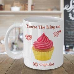 Icing On My Cupcake Valentines Coffee Mug, Valentines Gift, Valentines Day Gift, Valentines Mug, Valentines Day Mug, Funny Valentines Gift