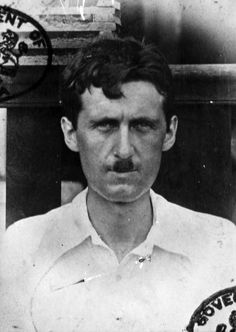 George Orwell's passport photo from his time as a colonial police officer in Burma, c. 1922-27