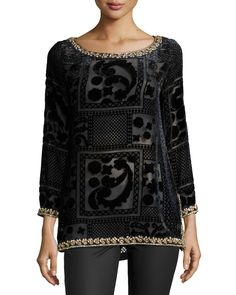 Mianette Embellished Shirt, Black by Calypso St. Barth at Neiman Marcus. Calypso St Barth, Neiman Marcus, Top Designers, Blouse, Casual, Sweaters, How To Wear, Shirts, Clothes