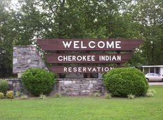 """The Qualla Boundary is territory held as a land trust for the Federally recognized Eastern Band of Cherokee Indians. It is part of their historic territory in this area. The indigenous Cherokee, an Iroquoian-language people, were here for centuries before European encounter, having migrated from the Great Lakes area. The land is technically not a """"reservation"""", in that tribal members can buy & own the land, provided they are enrolled members of the Tribe."""