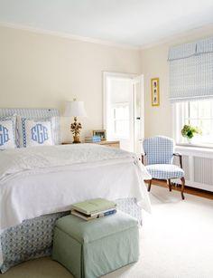Suellen Gregory Designs. light airy bedroom