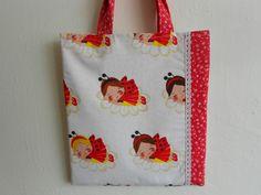 taštička dětská s podšívkou - berušky a kopretiny Reusable Tote Bags