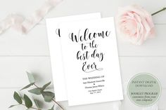 Belle Booklet Program Printable  Wedding by GraceDesignsDIY