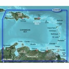 New-GARMIN VUS030R SOUTHEAST CARIBBEAN BLUECHART G2 VISION - 30379 by Garmin. $316.30. VUS030R Covers:Covers the Caribbean from Haiti to Trinidad & Tobago, including Puerto Rico and all of the Lesser Antilles. Also includes the Colombian and Venezuelan coasts from Barranquilla, Colombia to the mouth of the Orinoco River, including Lake Maracaibo and the Gulf of Paria.