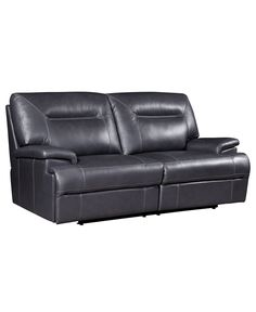 "Dario Leather Reclining Sofa, Power Recliner 84""W x 39""D x 39""H - Couches & Sofas - furniture - Macy's #3 power $1499"