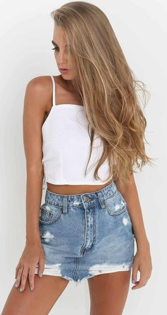 Fashion Spaghetti Strap Backless Solid Crop Top