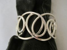 Sterling Swirl cuff bracelet marked Signed Juan by MyRedFlamingo, $89.99