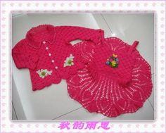 crochelinhasagulhas: Conjunto de crochê para menina