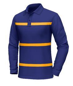 Select Striped Long Sleeve Polo Shirt in Bumble Bee Custom Polo Shirts, Tee Shirts, Mens Fashion Shoes, Men's Fashion, Men's Wardrobe, Long Sleeve Polo, Shirt Designs, Menswear, Sweatshirts