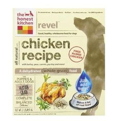 Honest Kitchen Revel Chicken Wholegrain Dog Food (6x2lb)