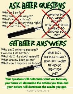 Ask yourself this questions!