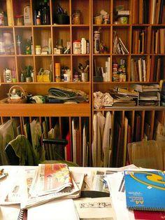 artist's shelves by jeangenie, via Flickr