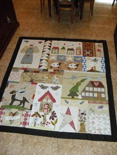 MISTERY QUILT, ya lo he terminado por fin, ahora solo queda acolcharlo. Art Quilting, Quilting Patterns, Colchas Country, Sampler Quilts, Applique Quilts, Appliques, Folk Art, Mystery, Patches
