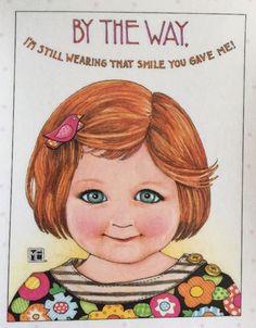 By The Way-Handmade Fridge Magnet-Mary Engelbreit Artwork