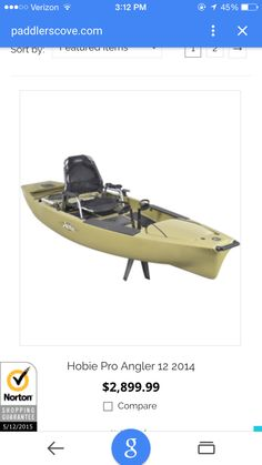 Now that's a fishing kayak!