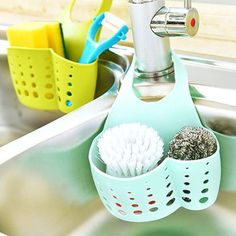 Kitchen Hanging Drain Bag Basket Bath Storage Gadget Tool Sink Holder Bathroom Soap Hanging Shelving Water Faucet laundry Basket $11.99   #stylish #beauty #ootd #cute #beautiful #sweet #instalike #fashionista #streetstyle #style #shopping #instafashion #iwant #glam #model