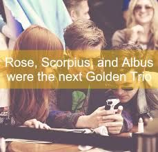 Rose, Scorpius and Albus were the next Golden Trio - love this! And it being Arthur, Matt and Karen just makes it better!!