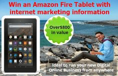"""Win a 7"""" Amazon Fire Tablet   Now is your chance to win a 7 Amazon Fire Tablet with over $800 of information to start your own online money making dream come true. Information will be supplied on a Micro SD card. from Pocket http://ift.tt/2c8hpnR via IFTTT IFTTT international giveaway Pocket sorteo internacional"""