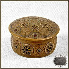 Craved wooden box, Ukraine, from Iryna with love