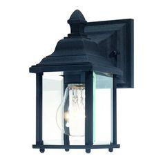 Charleston Black Small One-Light Outdoor Wall Light