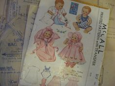 ORIGINAL Doll Clothes PATTERN 513 for 13 in DyDee Little Girl Doll by Effanbee