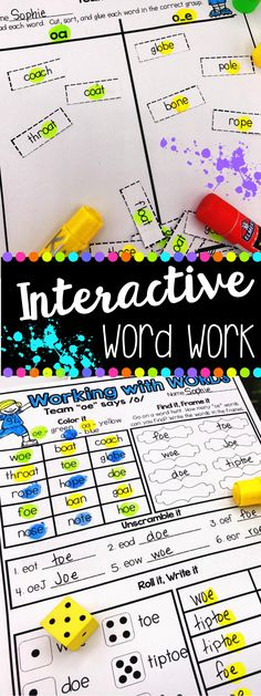 Are you a first or second grade teacher? Tired of boring worksheets? Looking for fun, engaging, interactive word work activities? This word work bundle covers ALL phonics patterns! You are set for the YEAR!