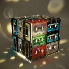 @erre3diseño Feliz año!!! Lleno de nuevas ideas. Cassette Tapes Lamp Box